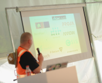 Organisers thanking the BornHack 2017 sponsors